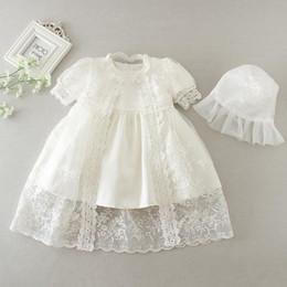 Canada robes de fille de fleur pour fête de mariage magnifique robe de baptême broderie bébé fille baptême robe enfant en bas âge 3-24 mois robes bébé fille Offre