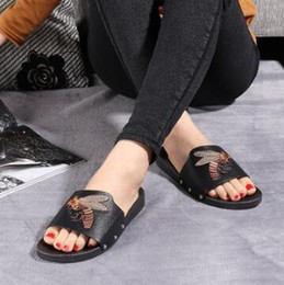 Wholesale Hotel Cool - Spring summer 2018 new lovers cool slippers printed slippers anti-skid casual women beach shoes.35-44