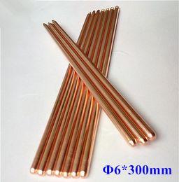 Heat pipe cobre on-line-6 * 120-300mm [dentro do líquido] Cooler da placa gráfica do processador central do computador portátil Tubulação de calor de cobre eficiente Tubo do radiador Condução de calor