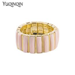 db8a8acff08 Vintage Resin Gold Cuff Bracelets Bangles for Women New Fashion Stretch Geometric  Acrylic Bracelet Simple Charm Party Jewelry
