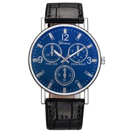 Wholesale Cheap Christmas Pins - 2018 New Cheap Luxury Mens Watches Quartz Three Dial Cool Women Wristwatch Leather Strap Fashion Men Watch Wholesale