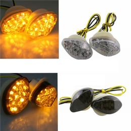 Luces de montaje empotrado led online-Luces de giro LED Luz intermitente Montaje empotrado Apto para Harley Honda Yamaha Suzuki Triumph BMW