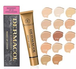 Wholesale Base Skin - Dermacol Concealer Foundation Make Up Cover 13 colors Primer DC Concealer Base Professional Face Dermacol Makeup Contour Palette Makeup Base