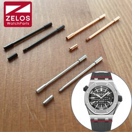 Wholesale Ap Royal - Wholesale-26.8mm watch Screw tube Conversion link kit For AP royal-oak-offshore Diver watch rubber Leather Strap Belt Band screwbar rod