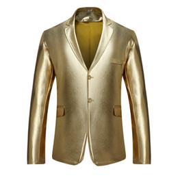 Nuovo modello Moda Autunno Maschio Linee scure nel vento Night Shop Suit Uomo tinta unita Fila singola Due bottoni Uomo piccolo da colore del vestito per gli uomini scuri fornitori