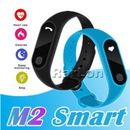 recordatorio de pulsera Rebajas M2 Impermeable Pulsera Inteligente Fitness Tracker Band Bluetooth Deporte Pulsera Inteligente Podómetro Monitor de Ritmo Cardíaco Reloj Anti-perdida Recordatorio