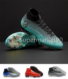 308cb28cc8986 2018 High Top Mercurial Superfly SuperflyX 6 VI Elite TF IC Scarpe da calcio  per ragazzi da uomo CR7 Cristiano Ronaldo 360 scarpe da calcio Tacchetti