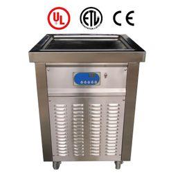 Envoi gratuit à la porte EU USA ETL CE unique carré 50 * 50cm pan FRY ICE CREAM MACHINE machine à crème glacée frite yaourt ROLL machine à crème glacée ? partir de fabricateur