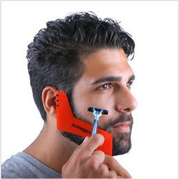 Wholesale New Beard Styles - New Hot Professional Comb for men Beard hair Shaving Beard Styling Template Carding Tools Bearded Comb Brush for Men Shaving