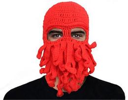 Puro Manual de Polvo de Lã de Fios de Chapéu de Lã Chapéu Engraçado Partido Unisex Chapéu De Malha Frete Grátis supplier octopus party hat de Fornecedores de chapéu do partido do polvo