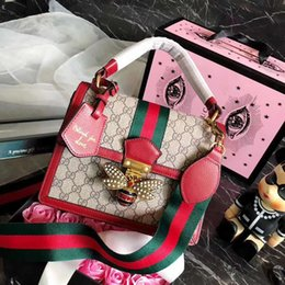 Wholesale hard candy bows - Pink sugao designer luxury handbags purses genuine leather 2018 famous designer women handbags shoulder bags bee diamond tote crossbody bag