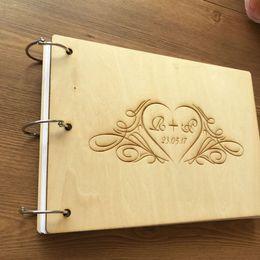 Kişiselleştirilmiş Modern Düğün Davetiyesi Kitabı, Ahşap Düğün Konuk Defteri, A5 Büyüklüğü Ahşap Özelleştirilmiş Düğün adı tarihi nereden sevimli planlayıcı kitap tedarikçiler