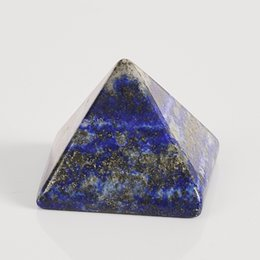 Wholesale Crystal Room Decor - 1pcs pyramid Fashion Energy Healing lapis Lazuli Egypt Egyptian Crystal Pyramid gemstone mineral Ornament Home Decor