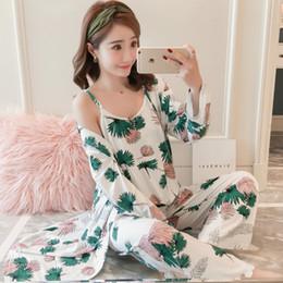 Autumn Winter Sexy Pijamas Set Women Sleep Set Deep O-neck Sexy Short  Homewear Pijama Women Pajama Sets Long Pant Set Robe Women D18110501 08ad68bce