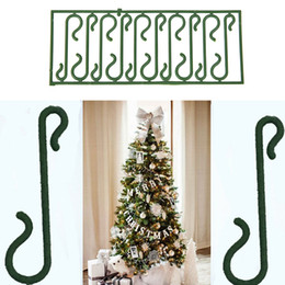 Wholesale Ornament Hooks - 10X New Small Green Christmas Ornament tree Hook Decoration Hanger Wire