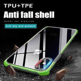 Wholesale Soft Tpu Cover - Shockproof Transparent Case For iPhone 8 Plus iPhone x Soft Gel TPU Phone Case Clear Back Cover for iphone 7 with package