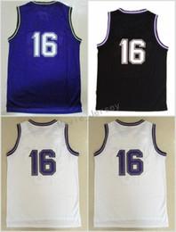 Wholesale Fan Material - Hottest 16 Peja Stojakovic Jerseys Uniforms For Sport Fans Throwback Peja Stojakovic Shirt Rev 30 New Material Team Away Purple Black White