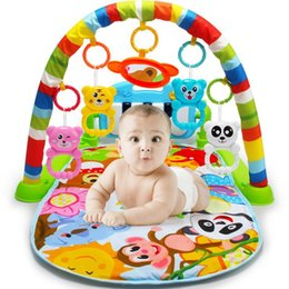 Wholesale Baby Activity Gym Mats - Wholesale-New Multifunction Soft Baby Play Mat Activity Piano Pedal Fitness Frame Music Bed Bell Pay Gym Toy Floor Crawl Blanket Carpet