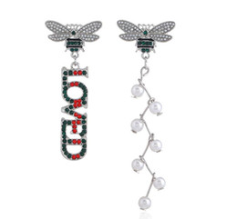 Wholesale United Number - 2018 United States charm Earrings bees colorful diamond loved earrings Jewelry For Women Party Gift .72 pcs 36 pair Free shipping 165