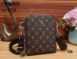 Wholesale briefcase vintage - 2018 Famous Brand Leather Men Bag Briefcase Casual Business Leather Mens Messenger Bag Vintage Men's Crossbody Bag bolsas male wallets A001