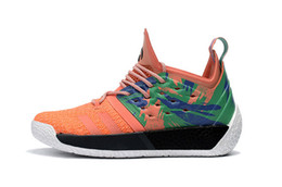 Wholesale james shoes white black - Sale 2018 Harden Vol. 2 Mens Basketball Shoes Black White Orange Fashion James Harden Shoes Sneakers Size EUR 40-46