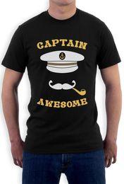 Kapitän Awesome - Fishinger Boot Cooler Fischer Sailinger T-Shirt Lustige Bootfahren Lustige Tops T-Shirt Casual O-Ausschnitt von Fabrikanten