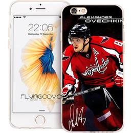 Caso do iphone do hóquei on-line-Alexander Ovechkin hockey tampa do telefone para iphone 10x7 8 mais 5s 5 se 6 6 s plus 5c 4s 4 ipod touch 6 5 Limpar Casos de Silicone macio TPU.
