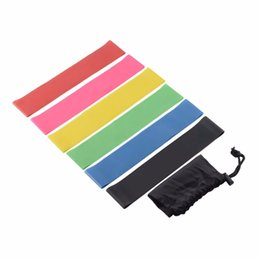 Wholesale Resistance Stock - Resistance Band Set 6 Level Resistance Exercise Loop Bands Natural Latex Gym Fitness Strength Training Yoga Loop Bands In Stock