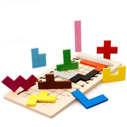Wholesale Old Wooden - Clever Change Tetris Jigsaw Puzzle Intelligence Block Mystery For Put Together Early Childhood Informative Baby Toys Interest 7 5dk X