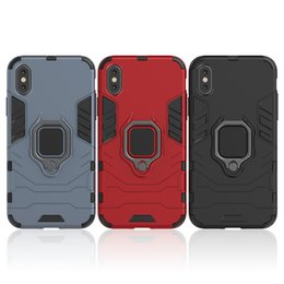 Armor Heavy Duty Robot Black Panther Kickstand Case per Iphone 8 plus Custodia ibrida robusta e rimovibile per iPhone X da