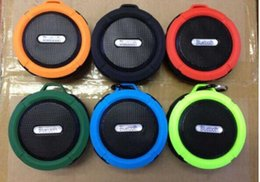 Wholesale card smallest phone - The new C6 waterproof bluetooth speaker outdoor sports suction cup mini small speaker phone car, the low-pitched sound factory direct sales