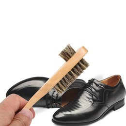 Argentina Mango de madera largo Cepillo de cerdas Cuidado de zapatos Limpiador de zapatos Quitamanchas Herramienta de limpieza para el hogar de viaje Suministro