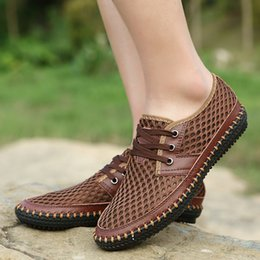 Wholesale Manual Sewing - New Hot Sale Top Quality Korean Version Breathable Manual Casual Net Men's Shoes Size 38-44