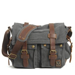 Wholesale ancient army - Muchuan cloth Europe and the United States to restore ancient ways ms canvas men messenger bag one shoulder bag Male canvas