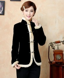 Wholesale Chinese Silk Jackets Women - Free Shipping Faddish Chinese tradition Women Silk Satin Jacket Coat Outerwear M L XL XXL XXXL TYR04