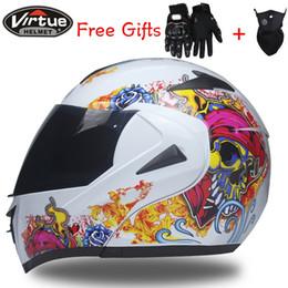 Мото-шлем переворачивается онлайн-2017 новый флип вверх гоночный шлем модульный двойной объектив мотоцикл шлем анфас Безопасные шлемы КАСКО capacete casque moto S M L XL