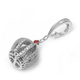 Wholesale Gem Studded - Fashion Jewels Crystal Crown Pendant Soild 925 Sterling Silver Shiny Gem-studded Crown Charm