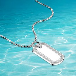 Wholesale trendy sweaters for women - New shelves 925 sterling silver necklace ,women sweater chain,Rectangular pendants necklace Suitable for Men and women