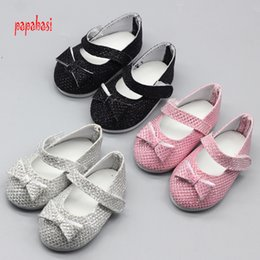 Wholesale Dress Games Girls - 1pair Sapphire Doll Shoes For 18 Inch American Girls Small Shoes Girls DIY Dress Up Doll Game Simulation Sandals