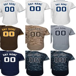 Wholesale Cheap Sports Shorts - 2016 New Personalized San Diego Jersey, Custom Any name NO. White Navy Camo Grey Brown sport Jersey best quality cheap baseball jerseys