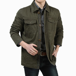 Wholesale Casual Cargo Jacket - jackets high quality cotton casual coat casaco M-3XL size jackets cargo coats brand male winter causal trenches
