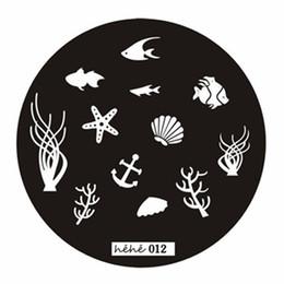 Wholesale Fishing Nail Art - Wholesale- 2016 New 1 PCS Fish Pattern Nail Art Stamping Image Plate Manicure Stamper Nail Printing Stamping Template Tools