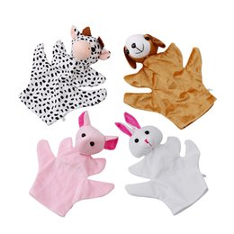 Wholesale Big Size Toys Dolls - Baby Puppet Toy Big Size Cute Animal Glove Puppet Hand Dolls Plush Toy baby kid Zoo Farm Animal Hand Glove Sack Plush 974533