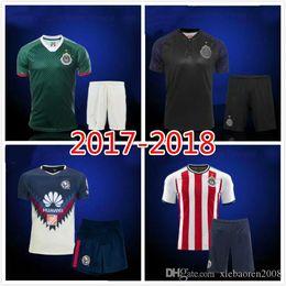 Wholesale Wholesale Jersey S America - 2017 Mexico Club Chivas de Guadalajara Adult Kits Soccer Jersey Men Set 17 18 Club America Best Quality AAA+ A.PULIDO football Shirts