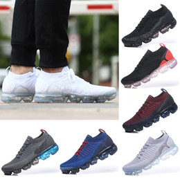 df745f200 high quality new 2018 VapoMax 2.0 Men and Women Running Shoes Sneakers  Sports Shoes Black White Hiking Walking Shoes without box men shoes without  laces ...