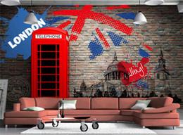Argentina Papel pintado de encargo de la foto 3D Vintage London Street Mural de pared Restaurante Café Sala de estar Sofá Telón de fondo Mural No tejido Papeles de pared cheap weaves london Suministro