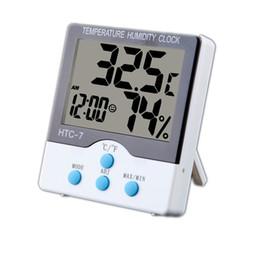 Canada Thermomètre numérique LCD Thermomètre Hygromètre électronique Température Humidité Compteur Réveil Maison C / F Cuisine Station Météo Intérieure Offre