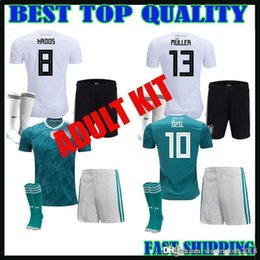 Wholesale uniform germany - 2018 GERMANY adult kit soccer jersey away muller HUMMELS 18 19 GORETZKA OZIL KROOS DRAHLER WERNER men football uniform shirts