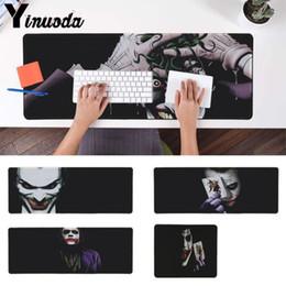 Wholesale clown custom - Yinuoda Custom Skin Dark Knight Joker Clown Computer Gaming Mousemats Size for 18x22cm 20x25cm 25x29cm 30x90cm 40x90cm