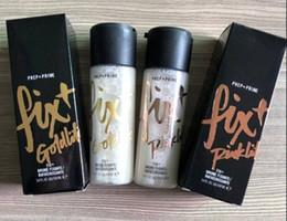 Ml de spray on-line-NOVA marca Quente Maquiagem Prep Prime Fix + 100 ml Goldlite Pinklite Shimmer Setting Base de Spray de base de Alta Qualidade DHL grátis